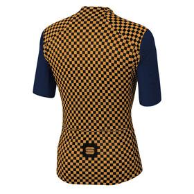 Sportful Checkmate Jersey Men blue twilight gold